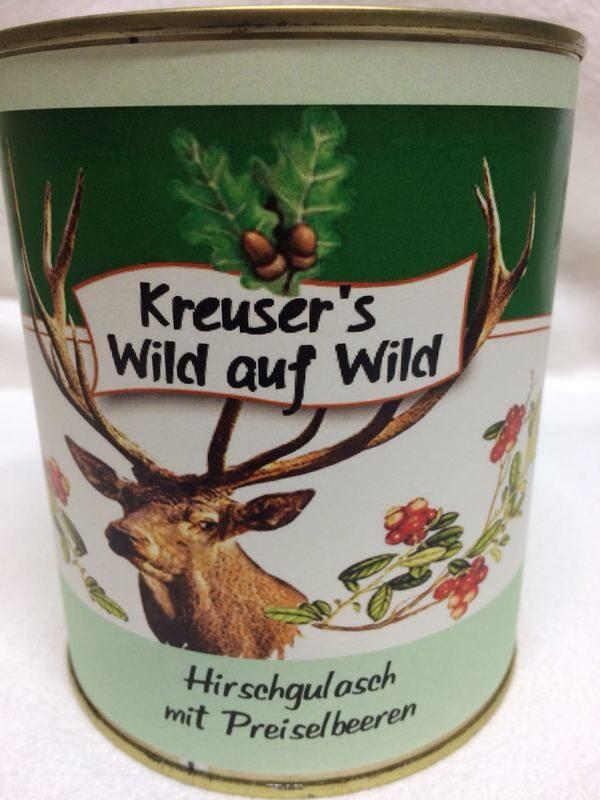Hirschgulasch Preiselbeeren Wildkonserve Dose online kaufen