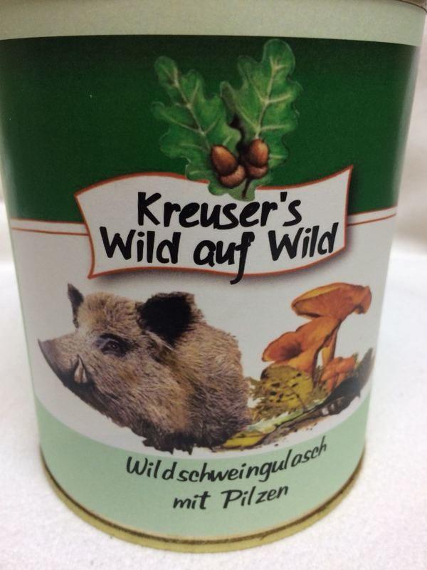 Wildschweingulasch Pilze Wildkonserve Dose online kaufen